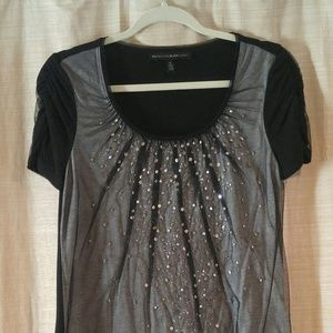 Festive T-shirt WHBM Sequins and Rhinestones
